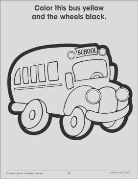bus and wheels using two colors 016