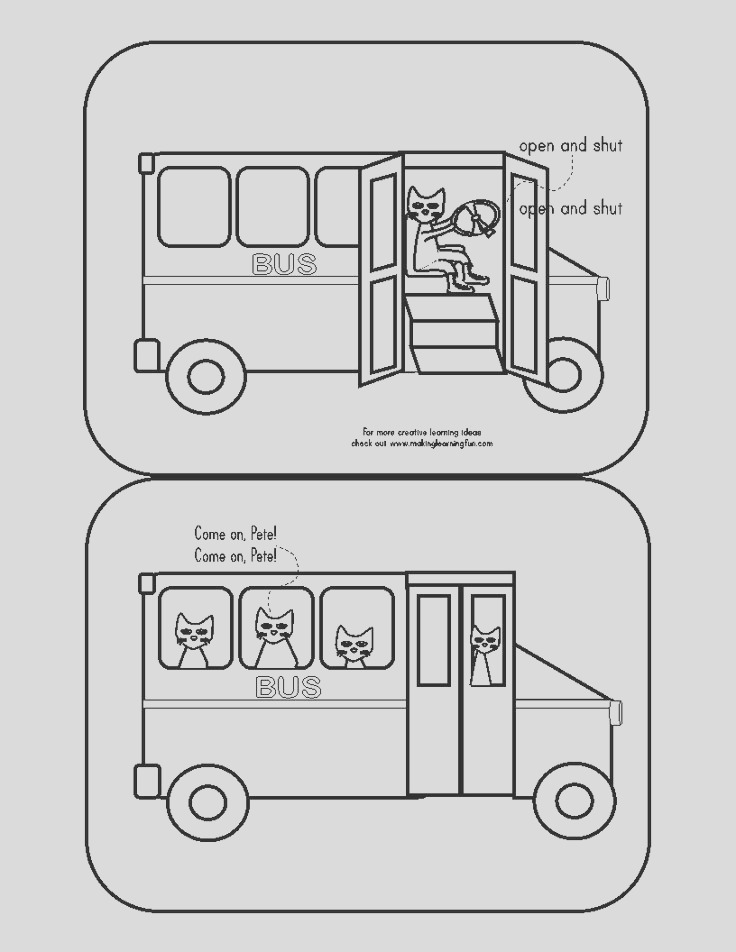 pete the cat and wheels on bus