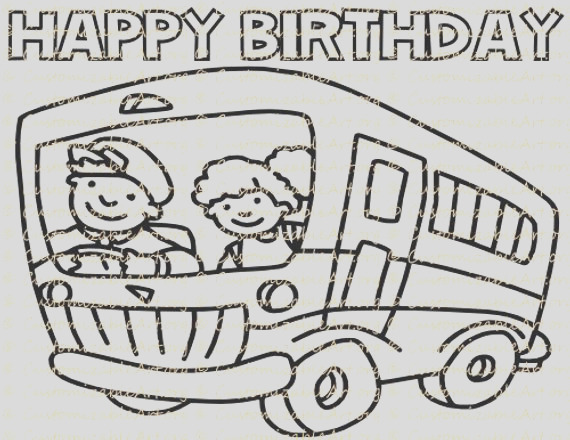 the wheels on the bus coloring page