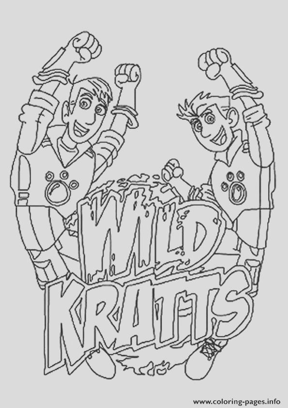 wild kratts the logo printable coloring pages book