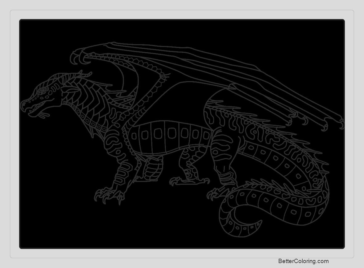 wings of fire coloring pages by lunarnightmares981