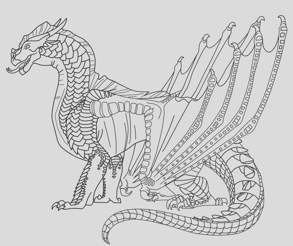 wings of fire coloring pages easy