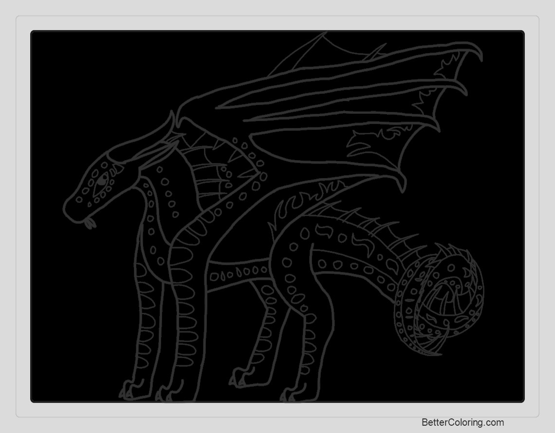 seawing from wings of fire coloring pages lineart by moonwatcher