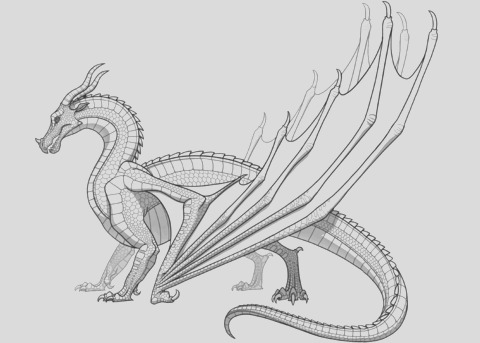 skywing dragon from wings of fire