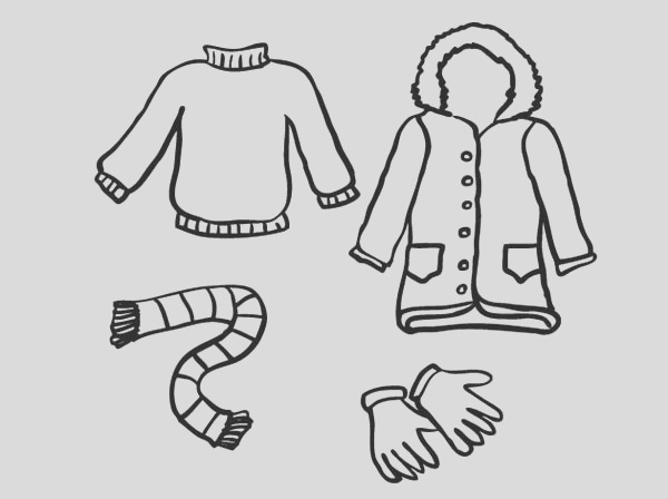 always stay warm in winter season coloring page