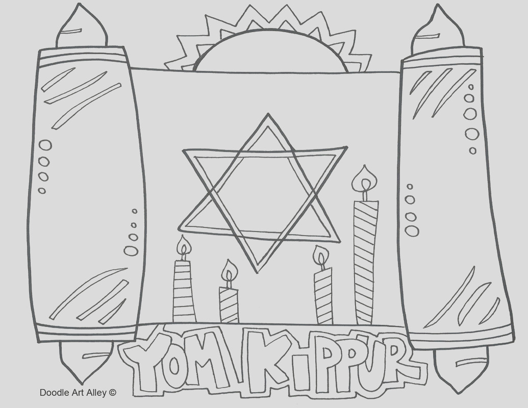 yom kippur coloring pages sketch templates