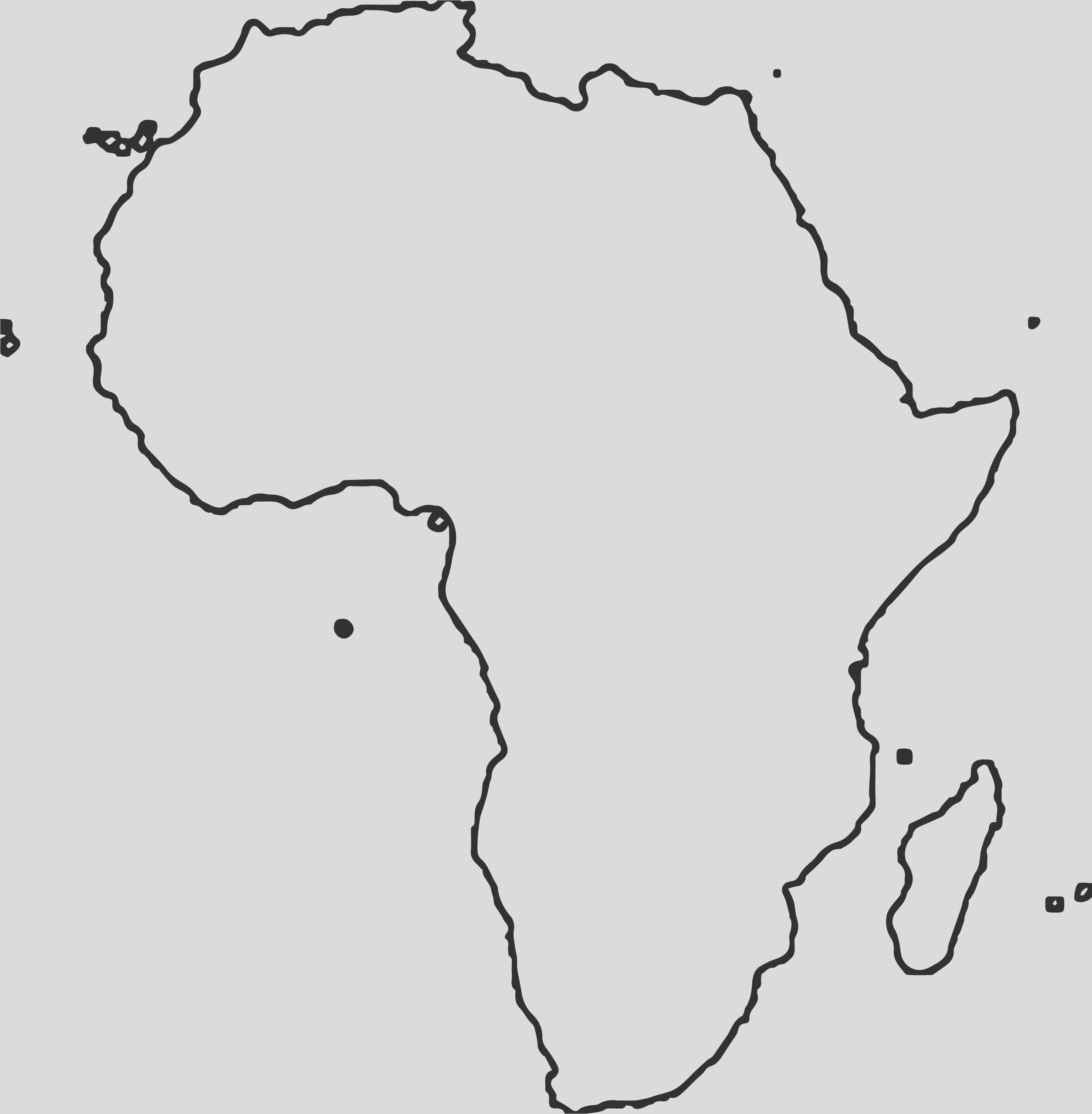 african flag map continent coloring page