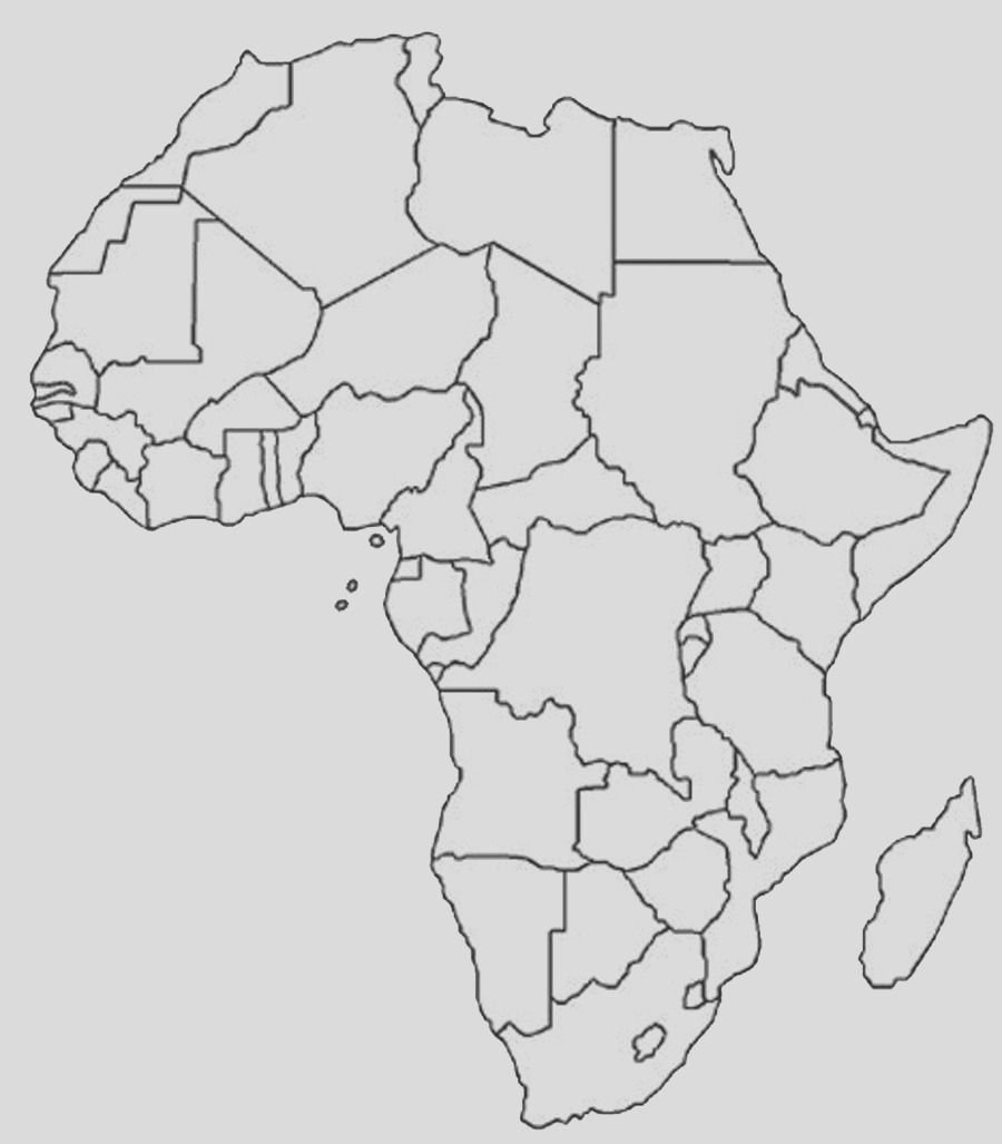 printable africa map