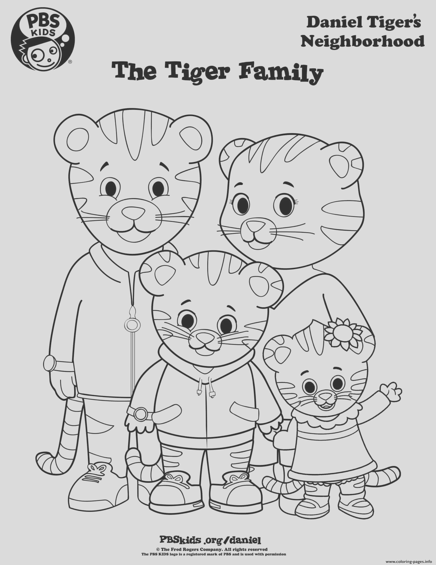 daniel tiger family margaret min printable coloring pages book