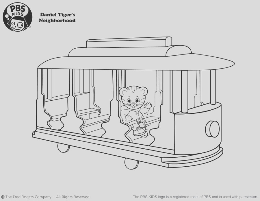 daniel tiger coloring pages to print 8dgal