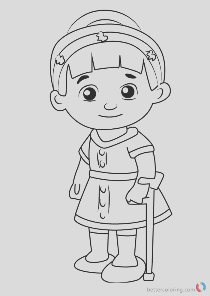 chrissie from daniel tiger coloring pages