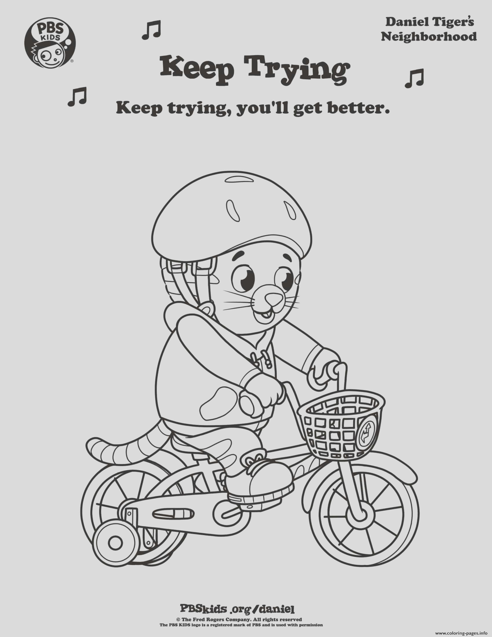 keep trying daniel tiger min printable coloring pages book