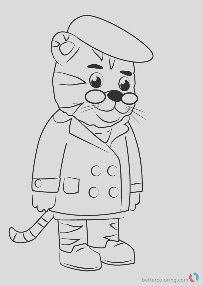 grandpere tiger from daniel tiger coloring pages