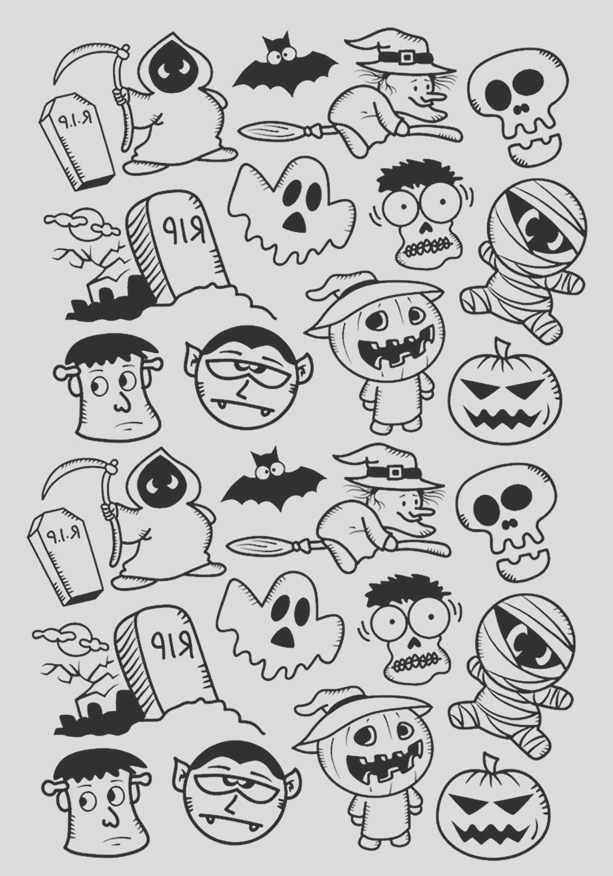 halloween adult coloring pages image=events halloween coloring adult halloween doodle characters 1