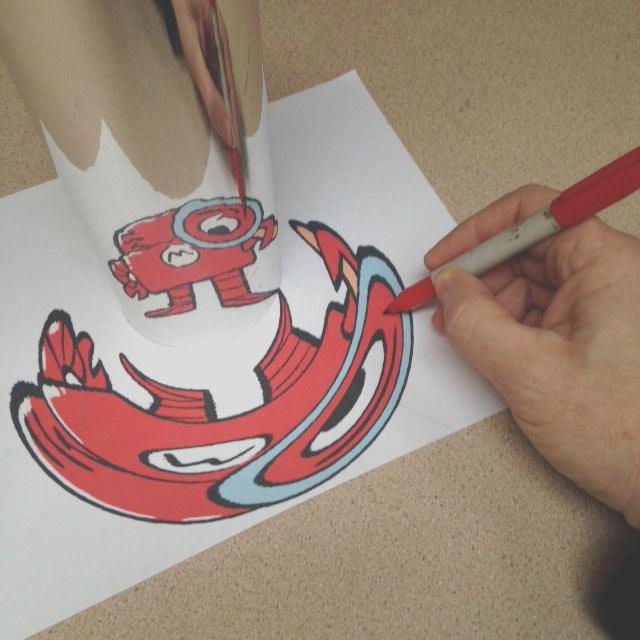 draw distorted pictures