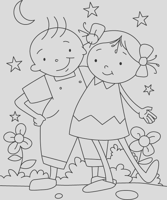 friendship colouring pages