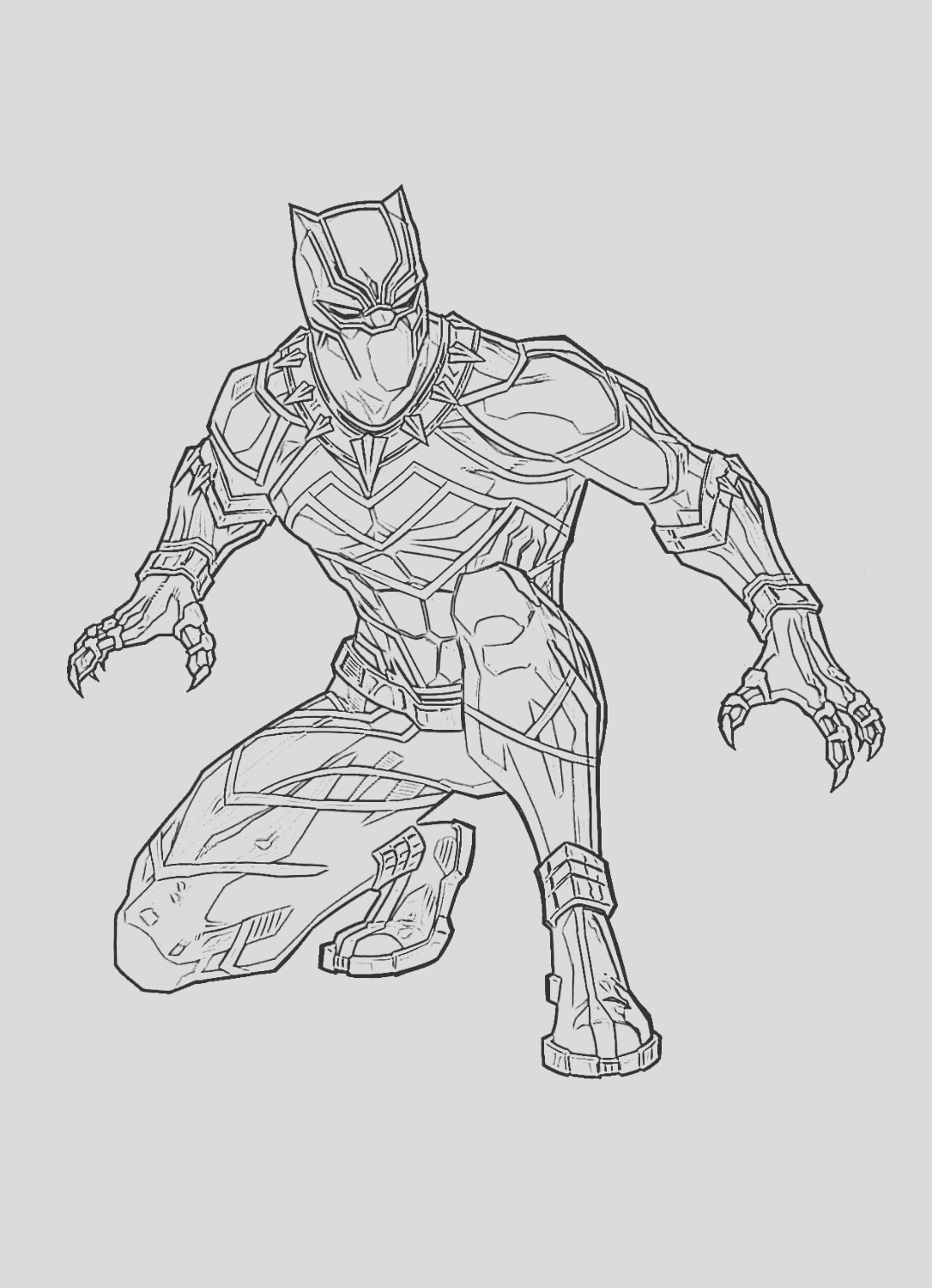 coloring pages black panther superhero marvel free