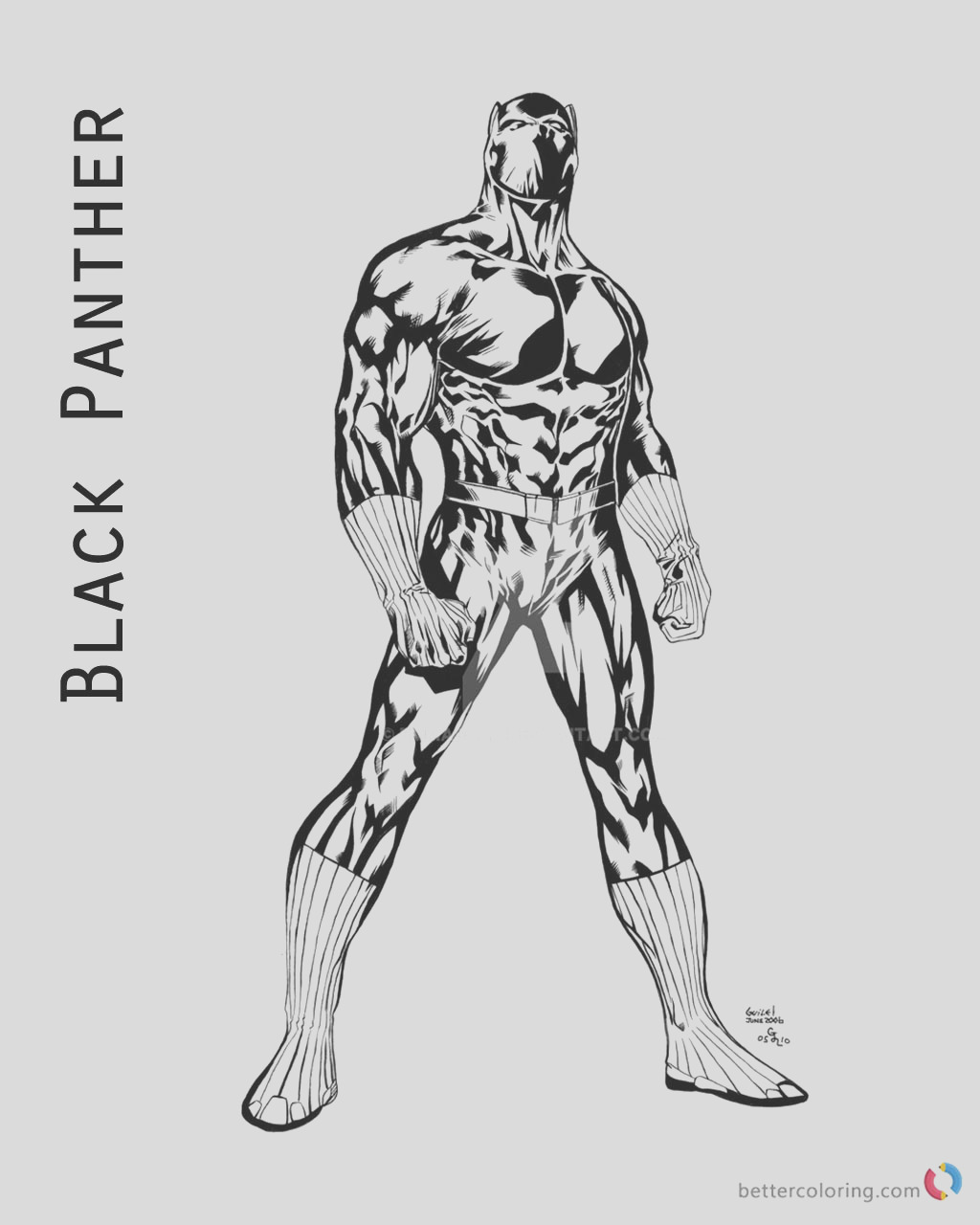 black panther coloring pages movie