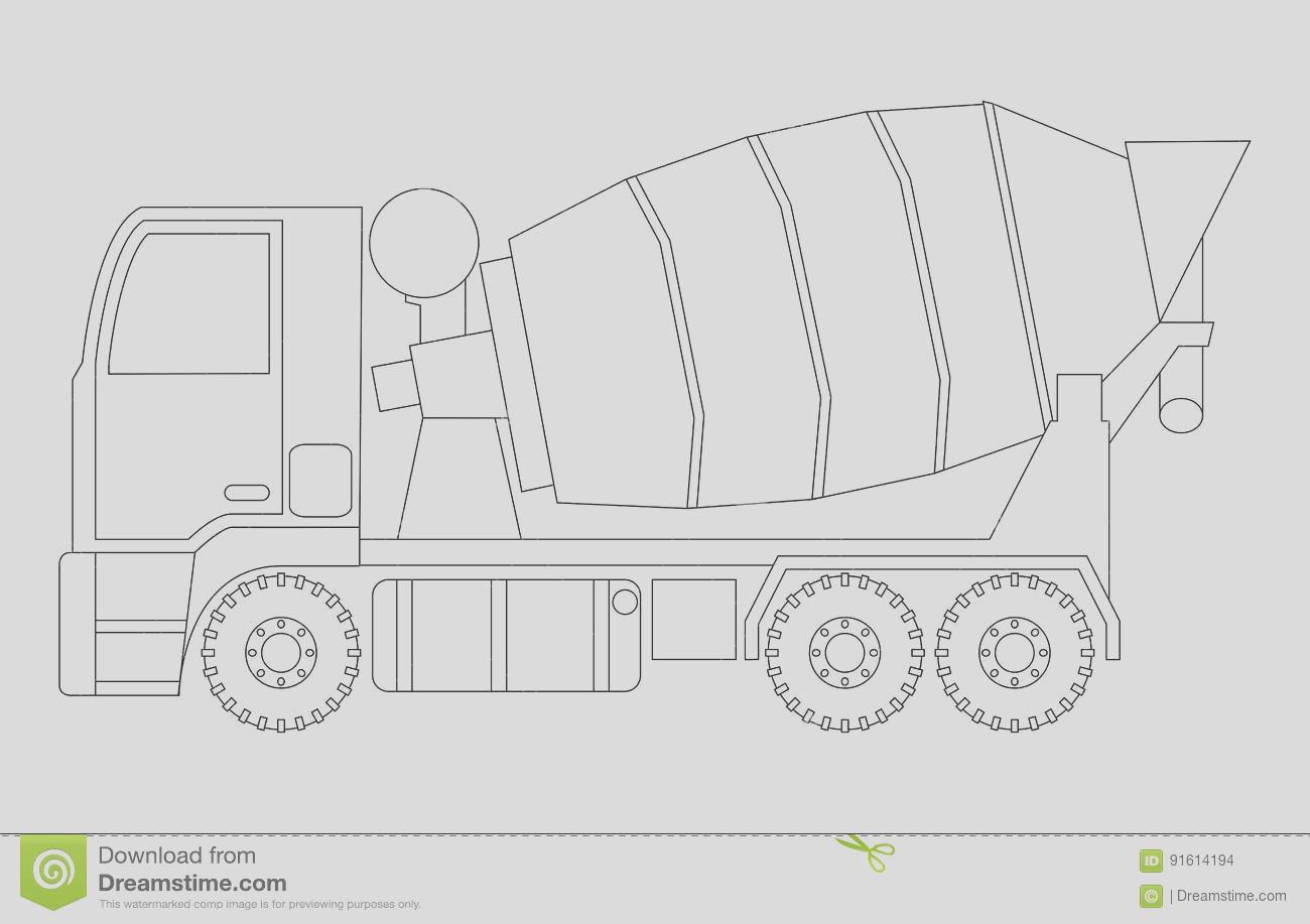 stock illustration construction machinery concrete mixer coloring pages children vector illustrations image