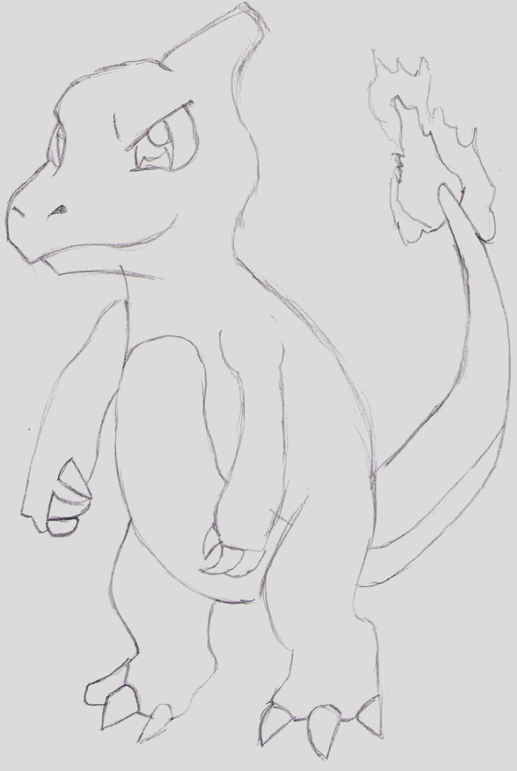 charmeleon coloring sheets sketch templates