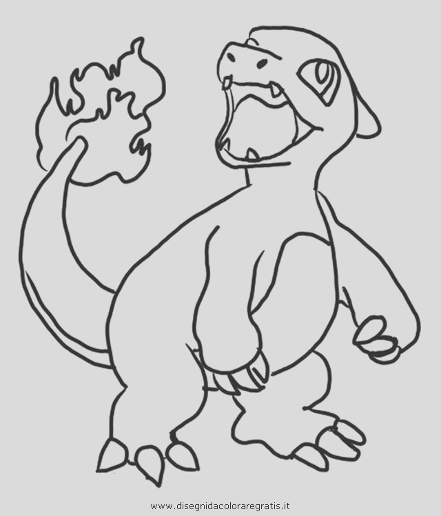 charmeleon coloring sketch templates