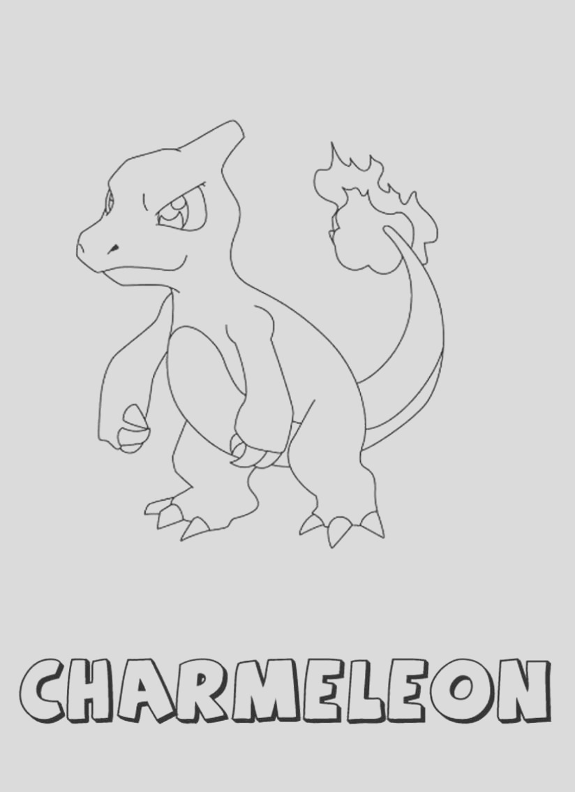 charmeleon coloring pages