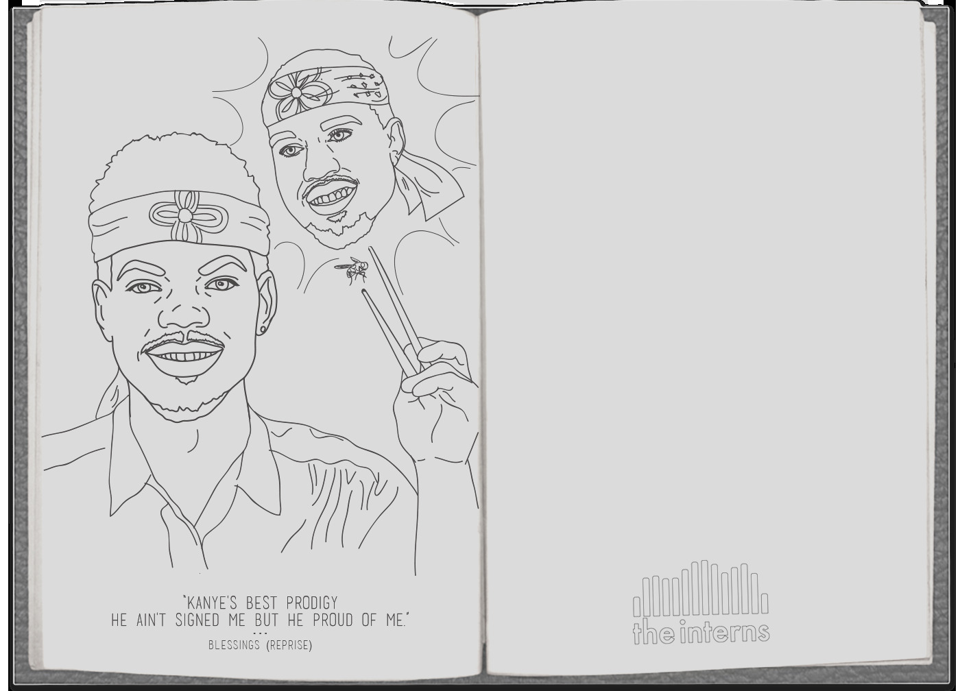 chance the rapper coloring book art