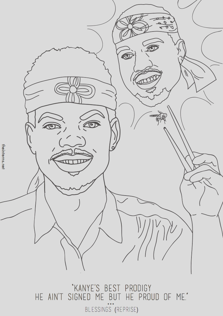 chance the rapper coloring book inspired an actual coloring book