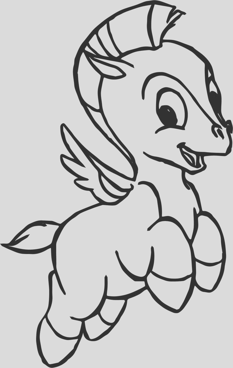 smile baby pegasus coloring pages