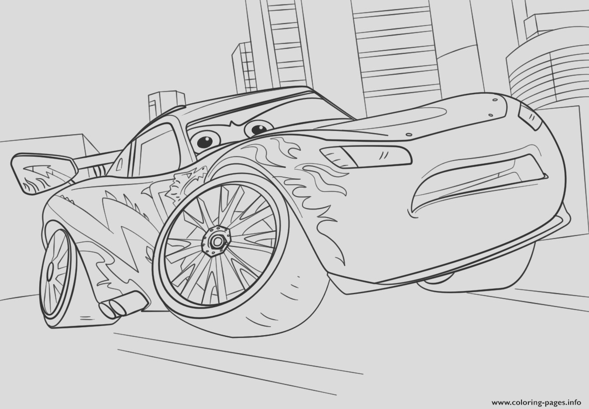 lightning mcqueen from cars 3 disney printable coloring pages book