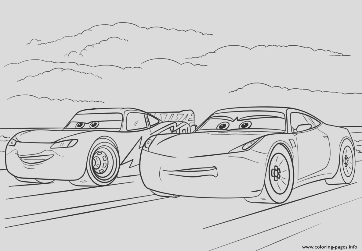 mcqueen and ramirez from cars 3 disney printable coloring pages book