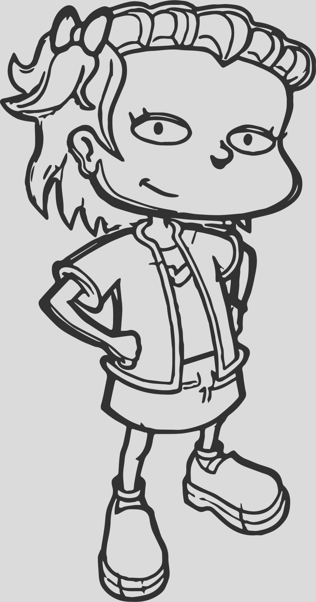 lil rugrats grown coloring page