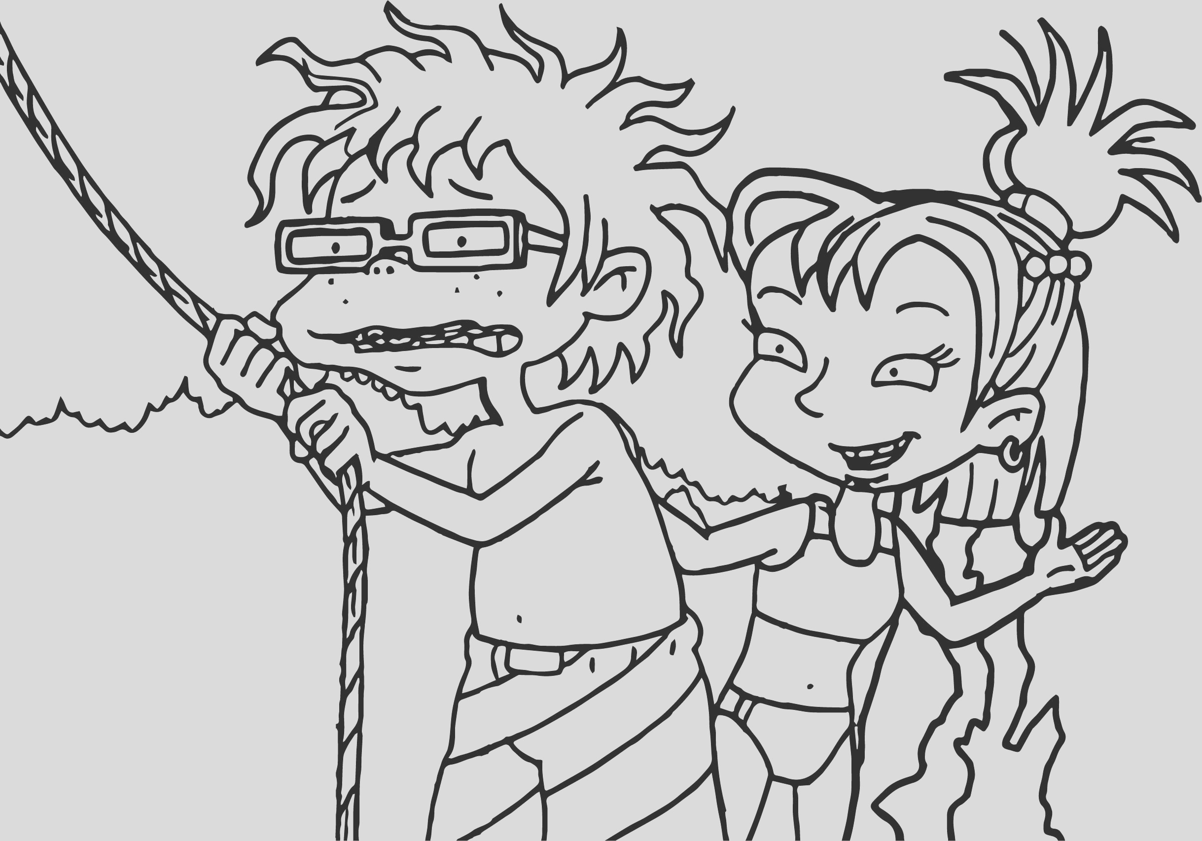 grown rope coloring page