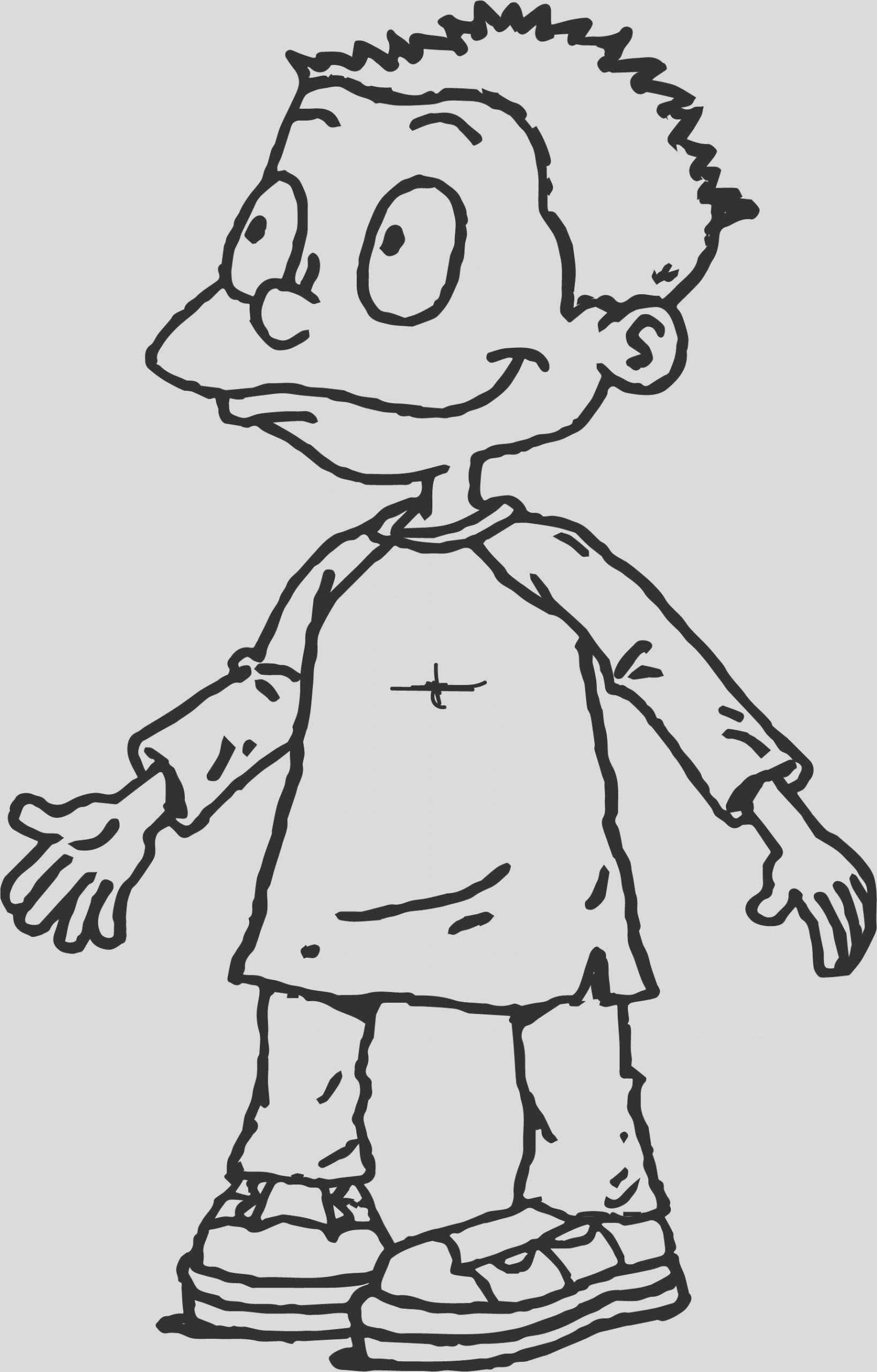 tommy pickles rugrats grown coloring page