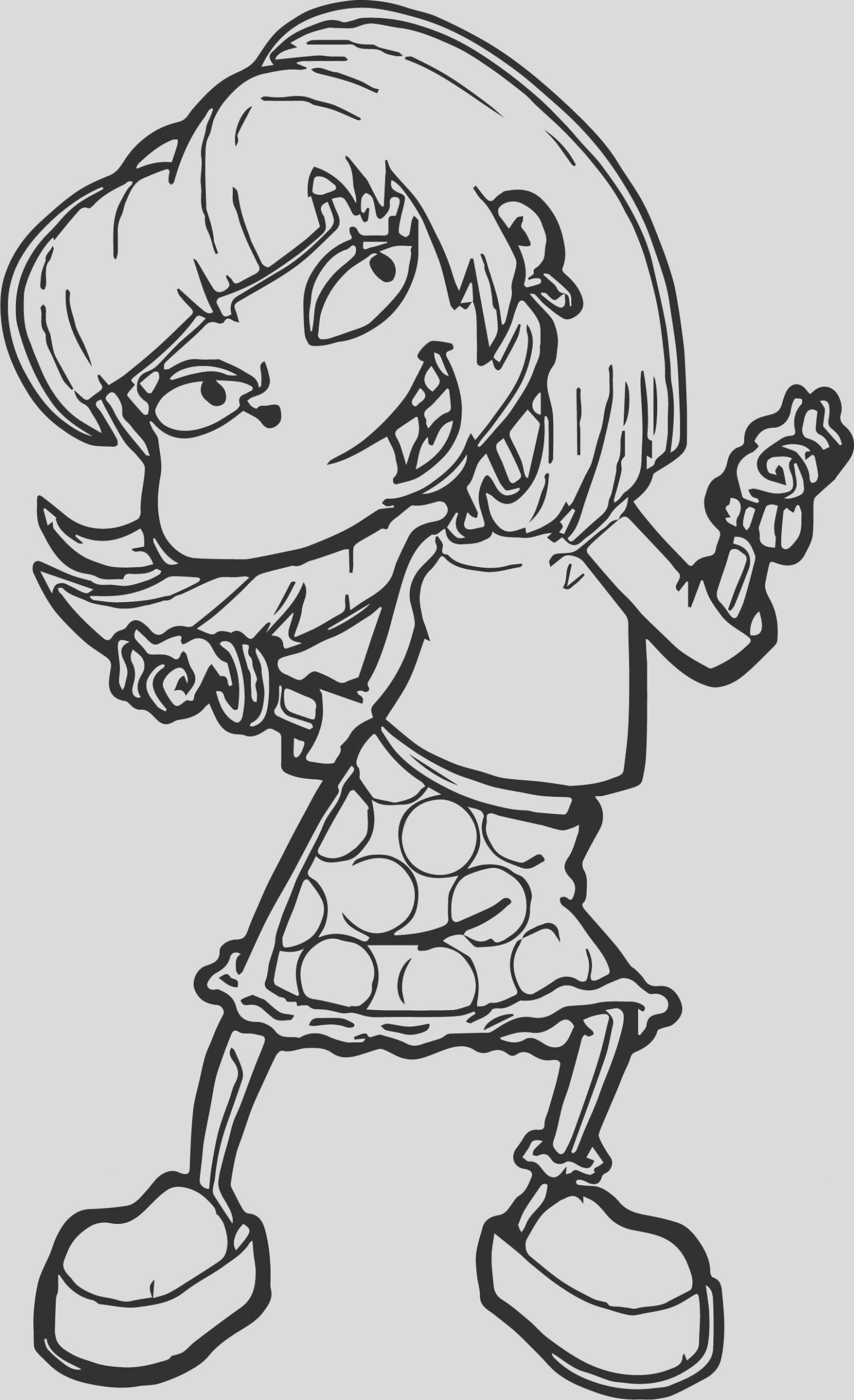 angelica rugrats grown coloring page