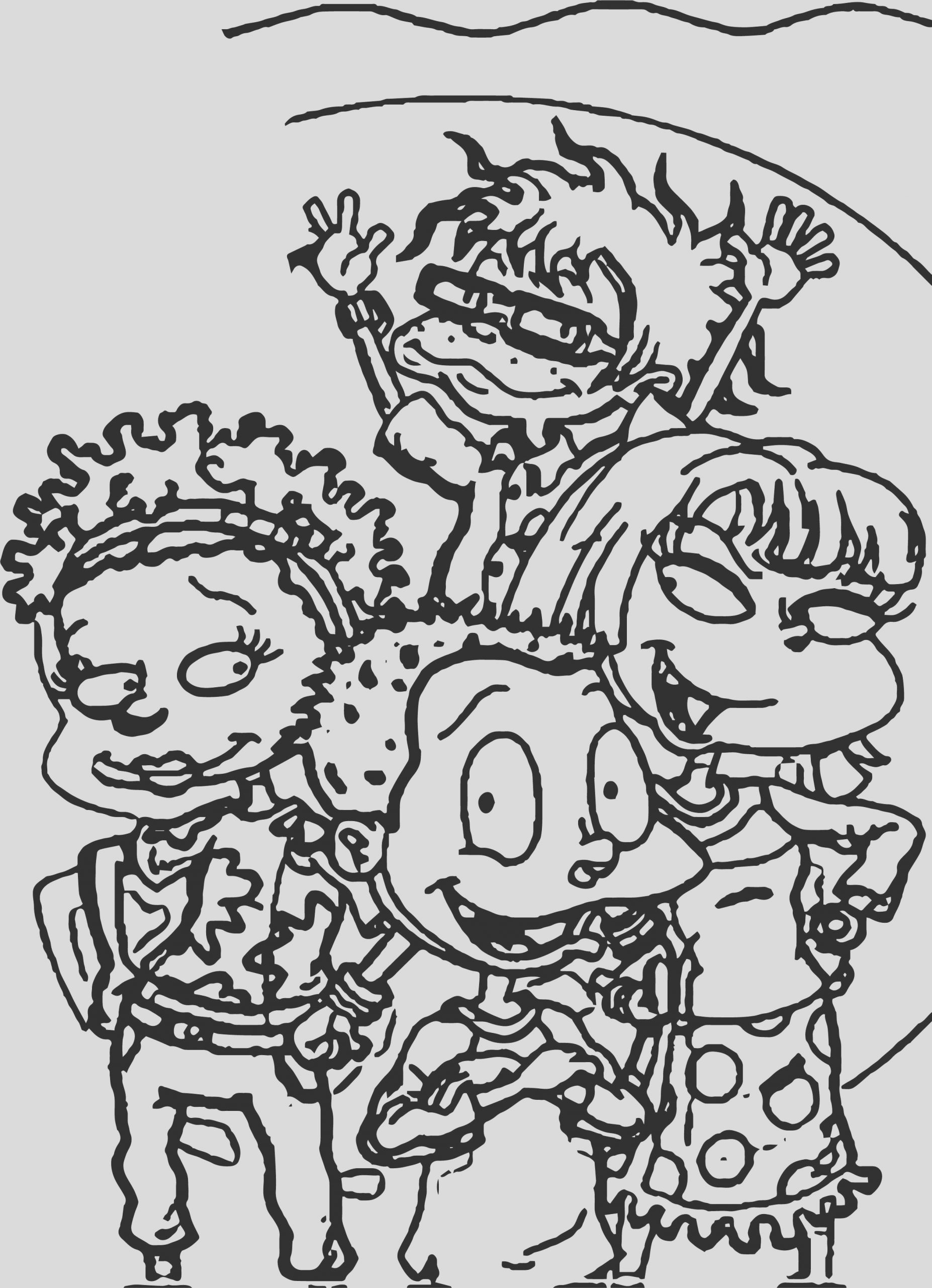 rugrats grown coloring page