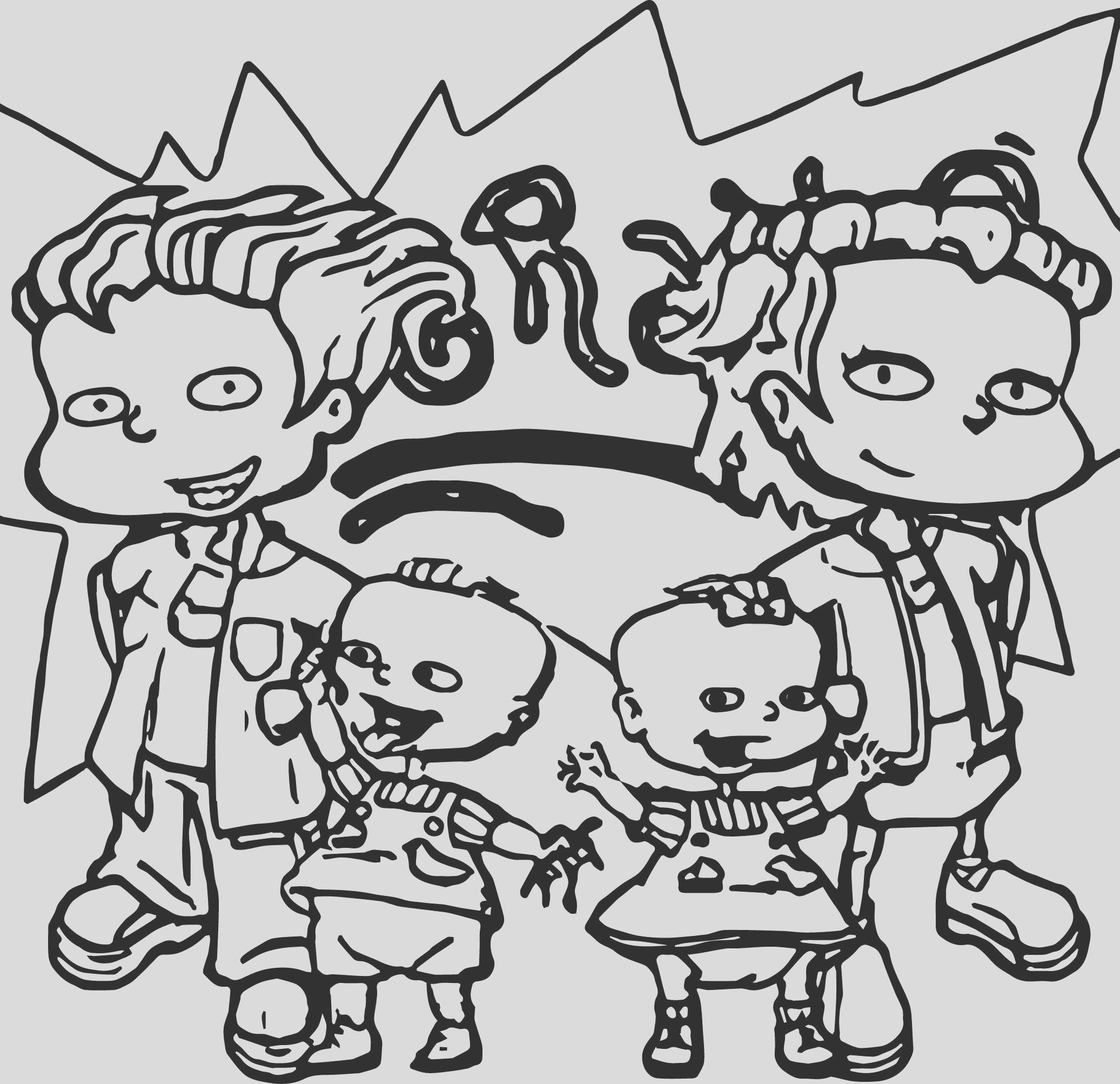 grown baby coloring page