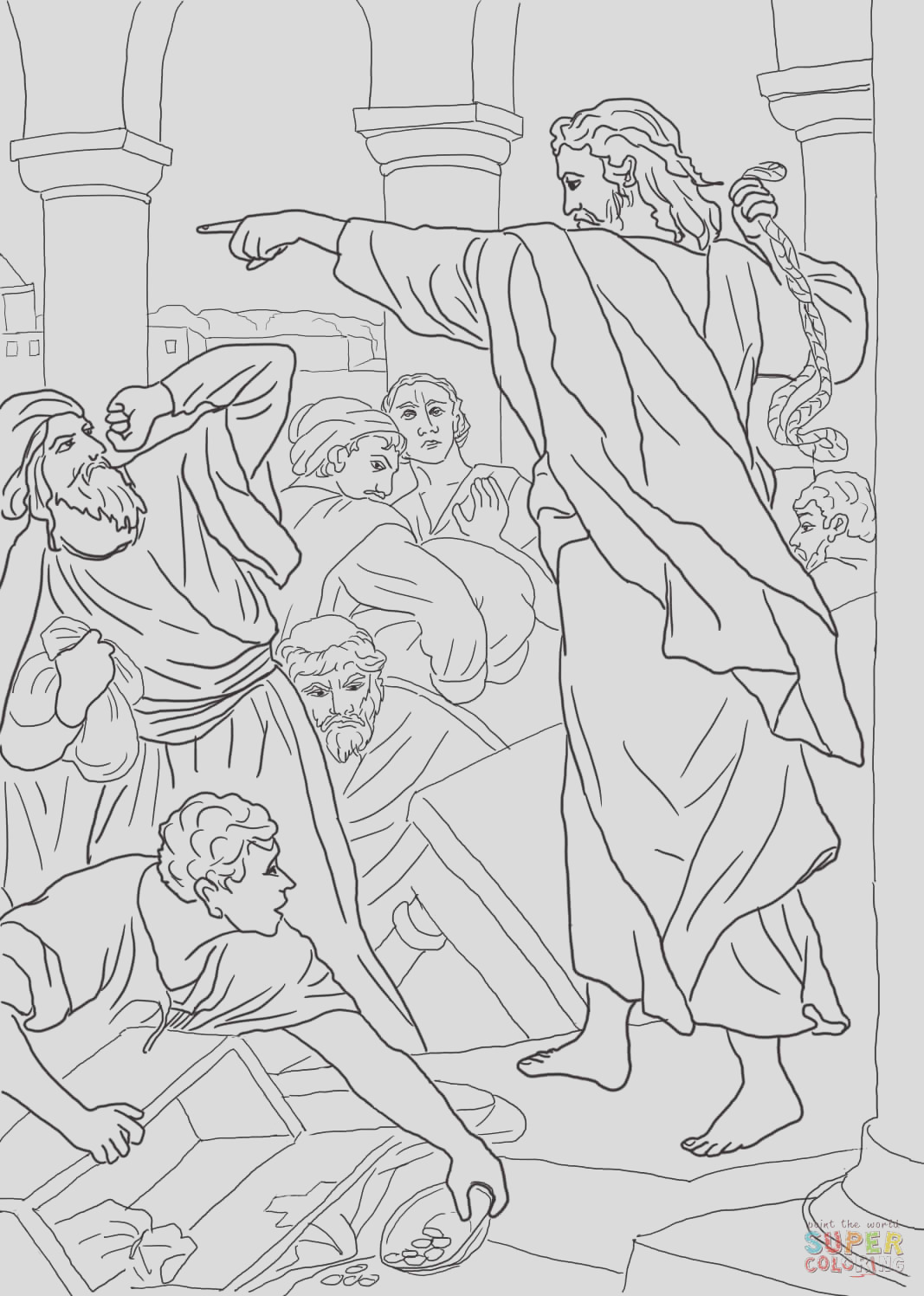 jesus chasing the money changers from the temple