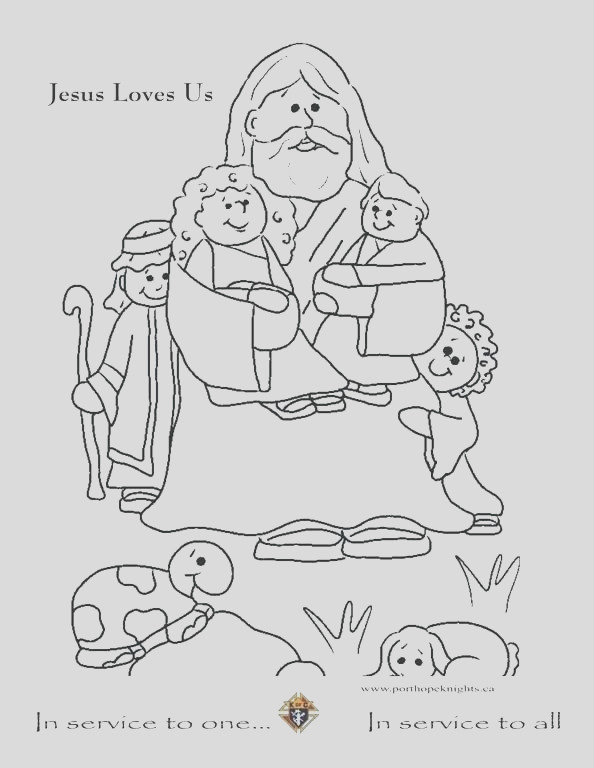 jesus loves me coloring page