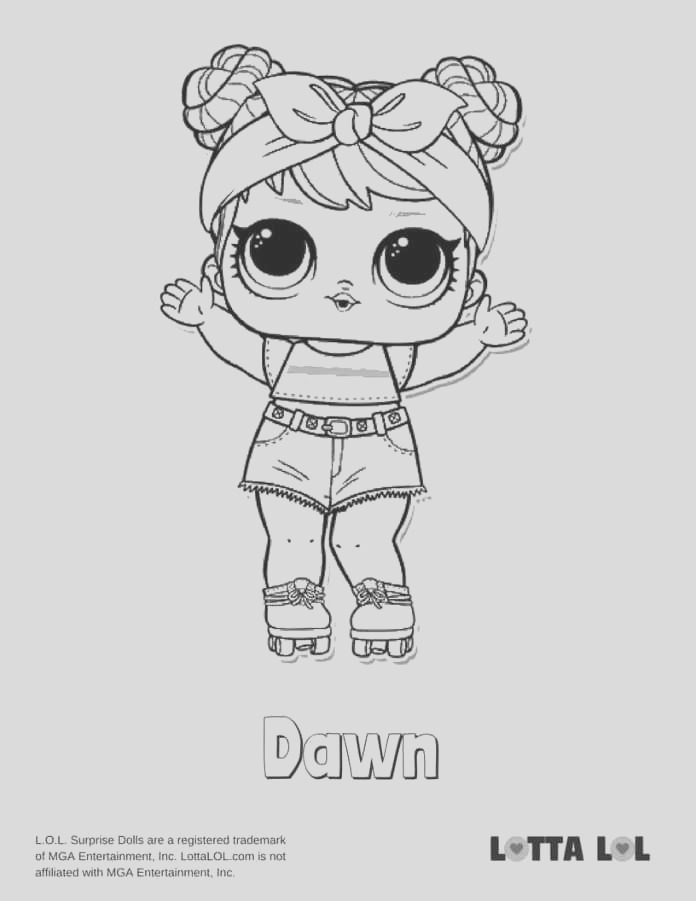 dawn coloring page