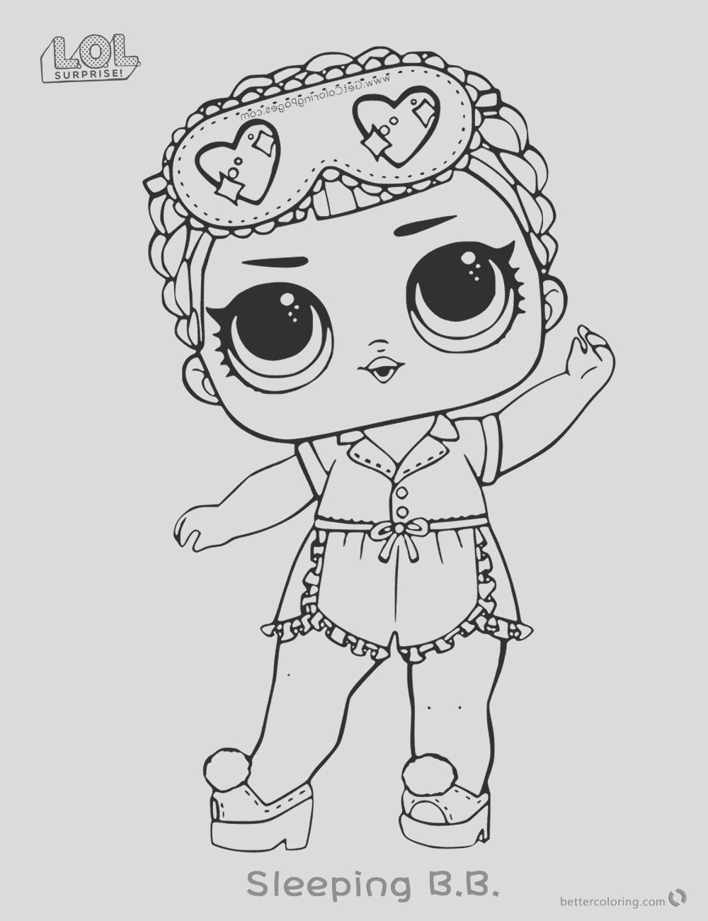 surprise doll coloring pages sleeping b b