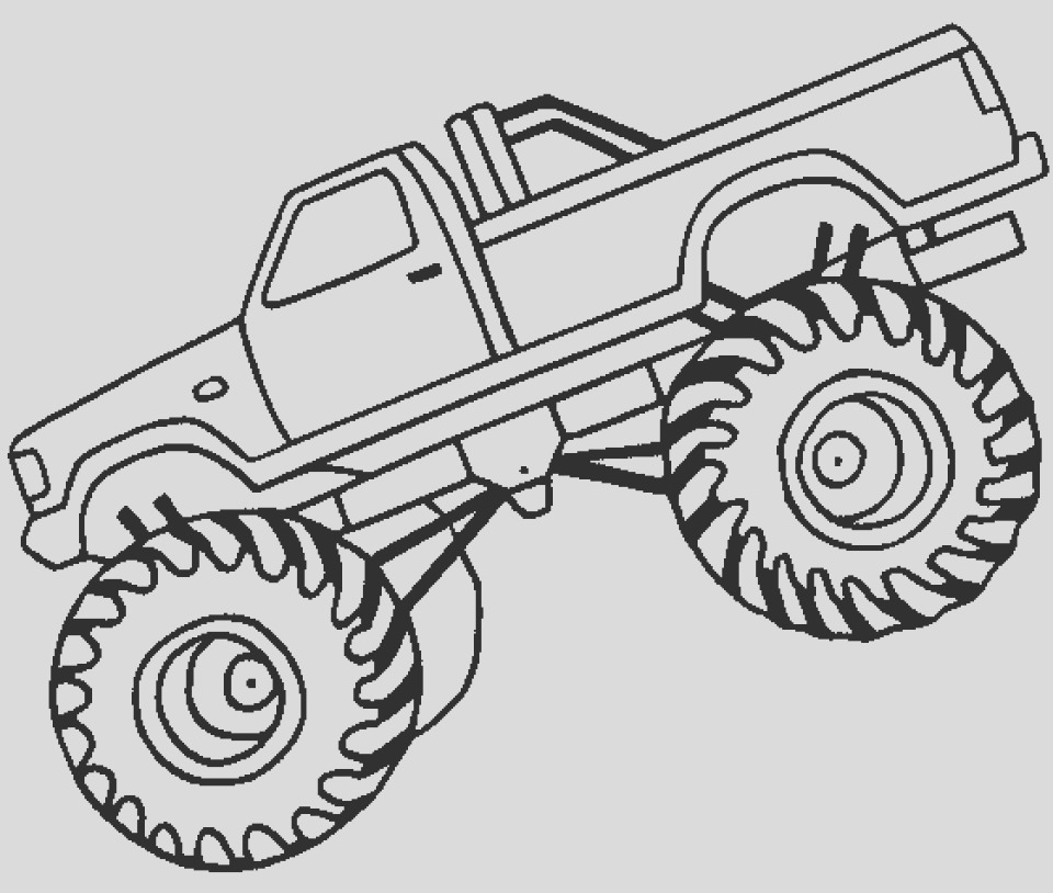 printable monster truck coloring pages online