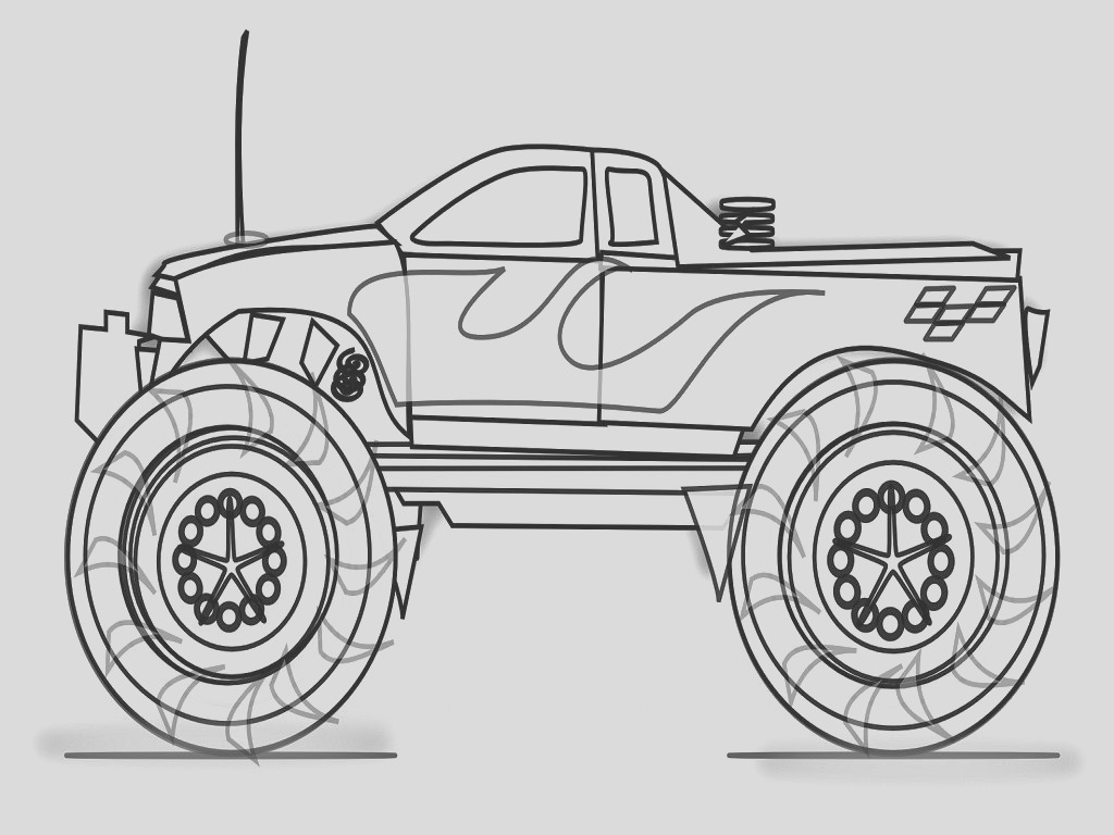monster trucks coloring pages to print designs canvas monster truck coloring pages printable
