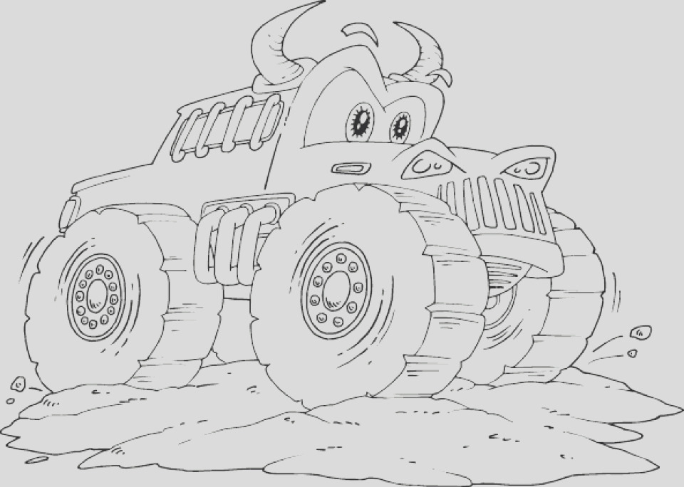 online monster truck coloring pages