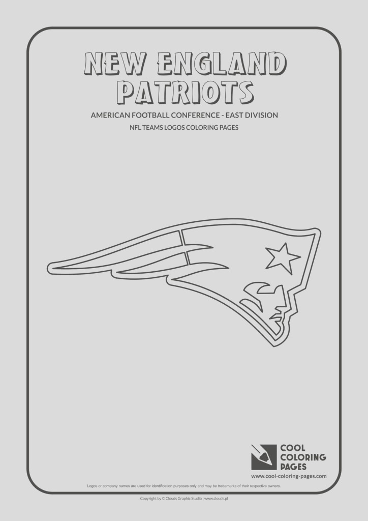 new england patriots nfl american football teams logos coloring pages