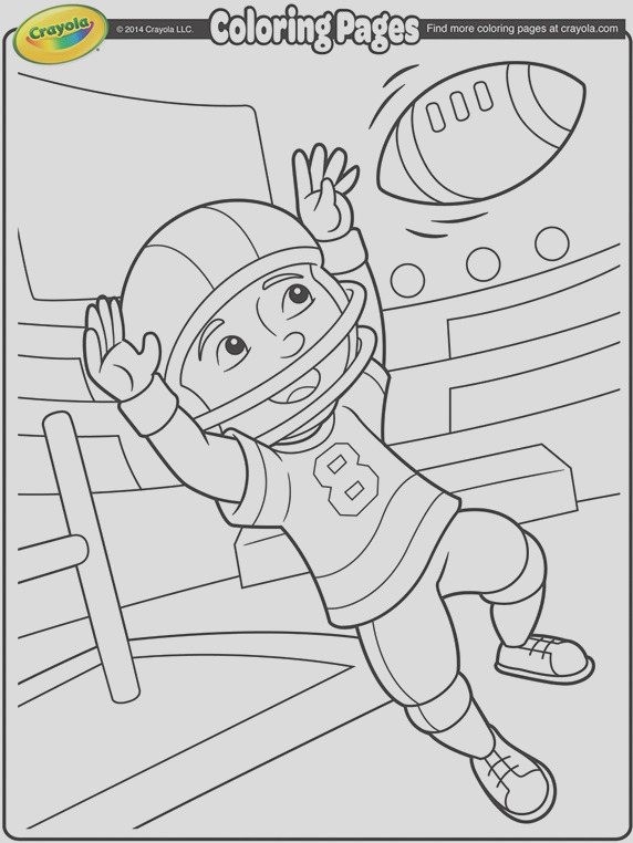 football wide receiver coloring page