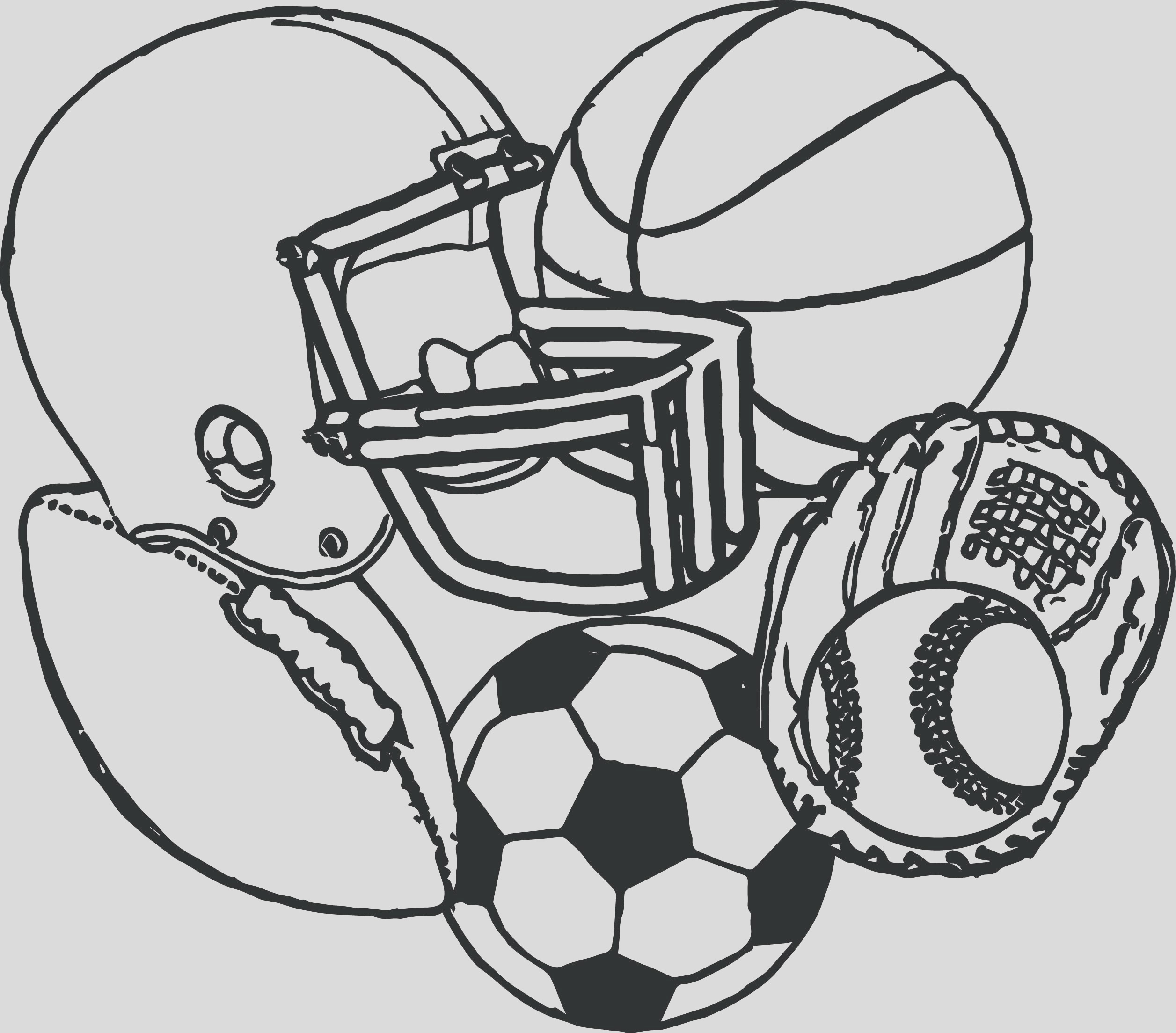 sports equipment drawing