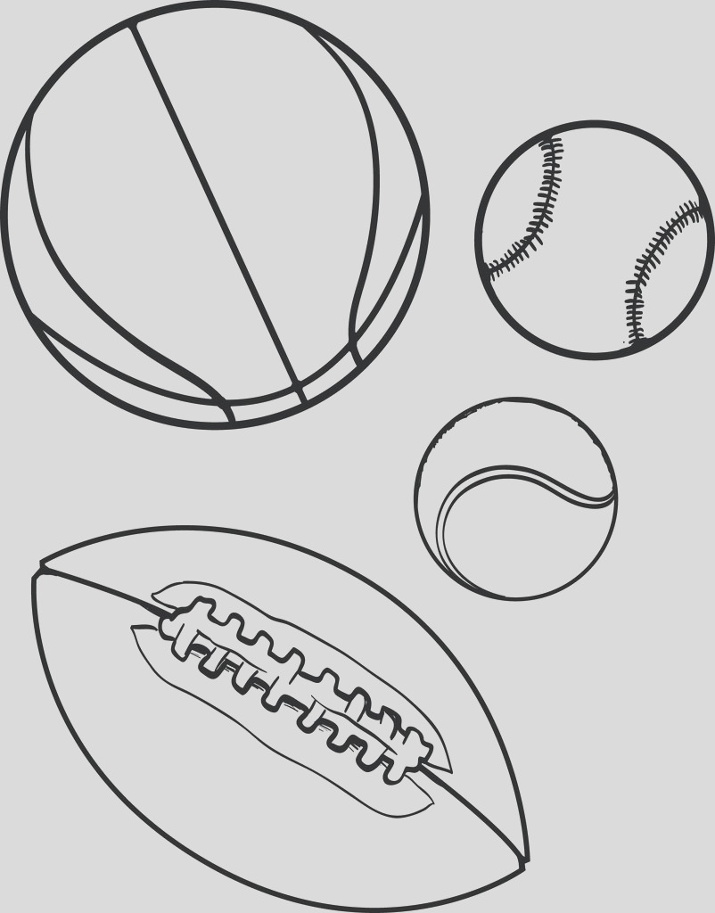 sports balls coloring page a4194