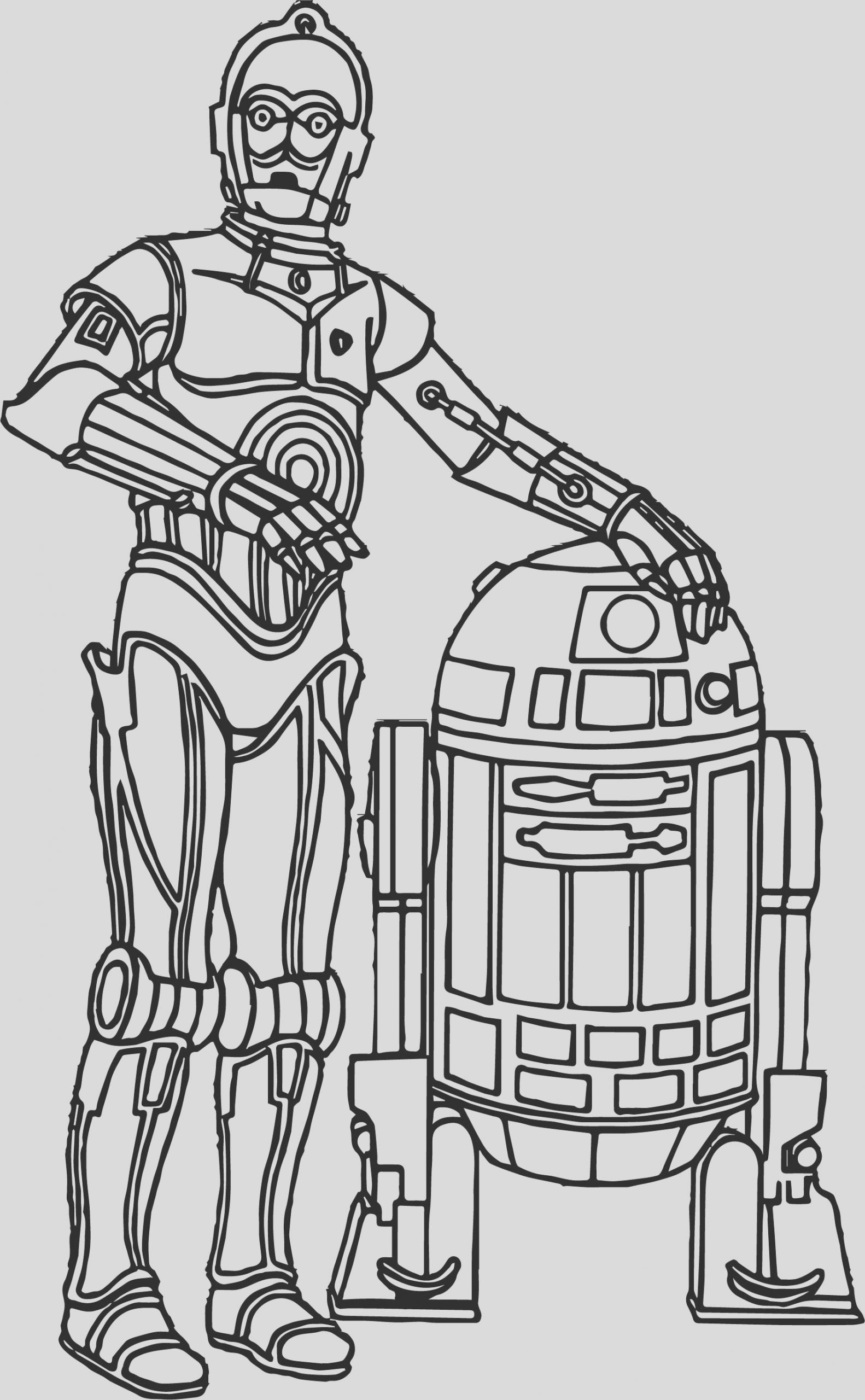 star wars force awakens robot character coloring pages