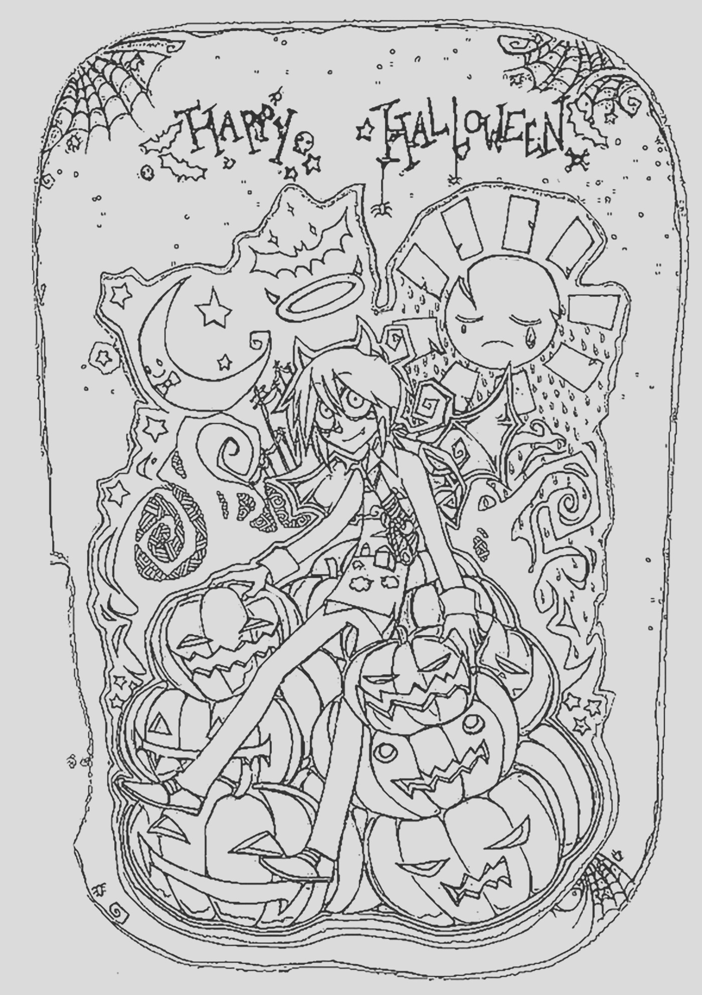 halloween adult coloring pages image=events halloween coloring adult halloween happy halloween 1